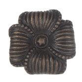 Striped Flower Metal Knob