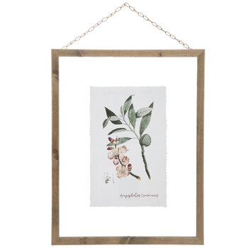 Floral Print Framed Wall Decor