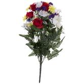 Red & Yellow Rose & Daisy Bush
