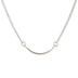 Sterling Silver Plated Curved Bar Necklace