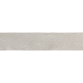 "Cream & Metallic Gold Wired Edge Ribbon - 1 1/2"""
