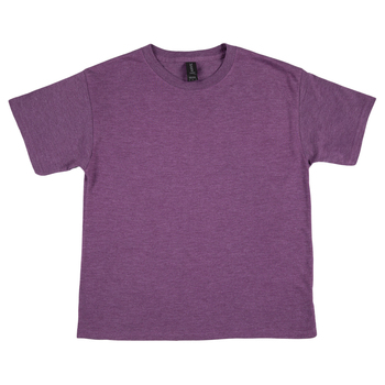 Heather Aubergine Tri-Blend Youth T-Shirt - Medium