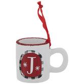 Glitter Letter Mug Ornament