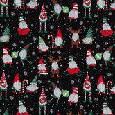 Christmas Gnomes Cotton Fabric