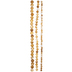 Light Brown Marble Glass Round Bead Strands