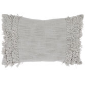 Sage Side Fringe Pillow