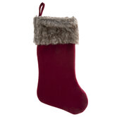 Stocking With Faux Fur