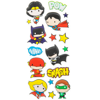 Justice League Puffy Stickers