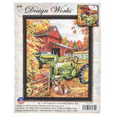 Tractor Counted Cross Stitch Kit