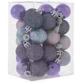 Mini Purple & Blush Glitter Ornaments