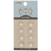 Gold & Pearl Round Shank Buttons - 10mm