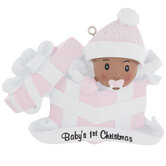 Girl Baby's First Christmas Personalized Ornament