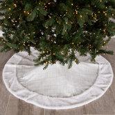 White Textured Tree Skirt