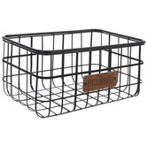 Blessed Rectangle Wire Metal Basket