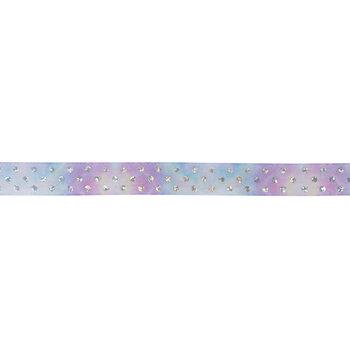 "Purple & Blue Ombre Polka Dot Satin Ribbon - 5/8"""