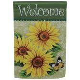 Welcome Sunflowers Garden Flag