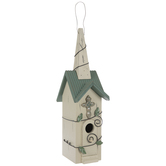 Steeple Birdhouse With Vine