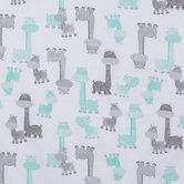 Gigi Packed Giraffe Cotton Calico Fabric