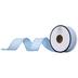 Baby Blue & White Polka Dot Wired Edge Ribbon - 7/8