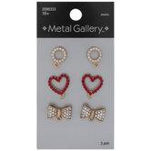 Rhinestone & Plastic Pearl Earrings