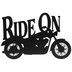 Ride On Motorcycle Metal Wall Decor