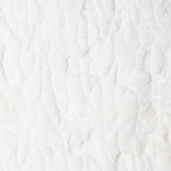 White Faux Rabbit Fur Apparel Fabric