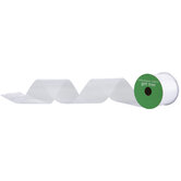 "White Cut Edge Sheer Ribbon - 2 1/2"""