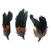 Black Natural Feather Picks With Loops