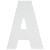 """White Wood Letter A -  5 1/2"""""""