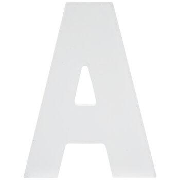 """White Wood Letter - 5 1/2"""""""
