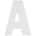 White Wood Letter A -  5 1/2