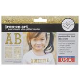 Glitter Alphabet Iron-On Appliques