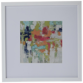 Multi-Color Abstract Framed Wall Decor