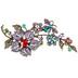 XXL Floral Rhinestone Brooch