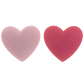 Light & Dark Pink Heart Shank Buttons