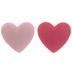 Light & Dark Pink Heart Shank Buttons