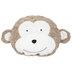 Brown & Cream Monkey Pillow