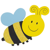 Bumble Bee Painted Wood Shape