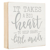 It Takes A Big Heart Wood Wall Decor