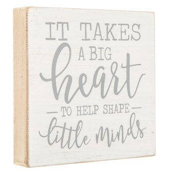 It Takes A Big Heart Wood Decor