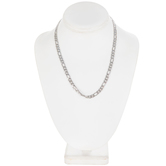 Flat Figaro Chain Necklace - 18""