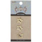 Gold Star Buttons - 16mm