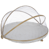 White Mesh Wood Food Cover