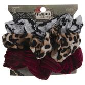 Animal Print & Velvet Striped Scrunchies