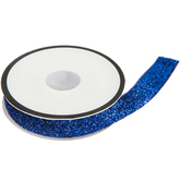 Royal Blue Glitter Elastic Trim - 1/2""
