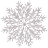 White Glitter Point Snowflake Ornament