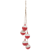Red & White Floats Wood Wall Decor