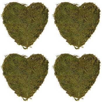 Green Moss Hearts