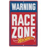 Hot Wheels Race Zone Metal Sign