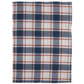 Blue & Orange Plaid Tablecloth